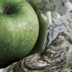 Mela verde con ostriche e gorgonzola